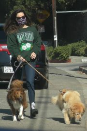 Aubrey Plaza Out with Her Dogs in Los Angeles 2020/11/21 7