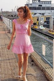 Blanca Blanco in Pink Short Dress Out at a Beach in Malibu 2020/11/22 6