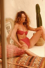 Candice Swanepoel in Mariel Top & Sana Bottom in riad at Tropic of C Resort 2021 Photos 2