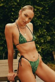 Candice Swanepoel in Praia Green Mystic Top & Bottom at Tropic of C Resort 2021 4