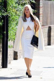 Caprice Bourret in Stylish White Outfit goes a Meeting in London 2020/11/27 1