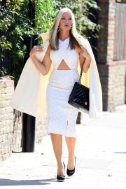 Caprice Bourret in Stylish White Outfit to a Meeting in London 2020/11/27 4