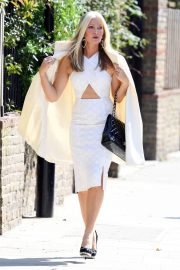 Caprice Bourret in Stylish White Outfit to a Meeting in London 2020/11/27 5