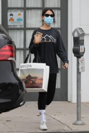 Eiza Gonzalez in Black Top with Tights Out and About in Los Angeles 2020/10/23 1