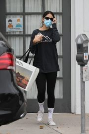 Eiza Gonzalez in Black Top with Tights Out and About in Los Angeles 2020/10/23 3
