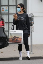 Eiza Gonzalez in Black Top with Tights Out and About in Los Angeles 2020/10/23 7