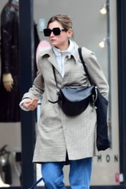 Emma Corrin in Long Coat Out with Her Dog in London 2020/10/18 5