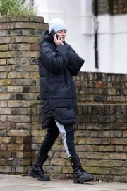 Emma Corrin in Long Puffer Jacket Out and About in London 2020/11/26 7
