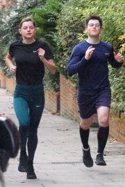 Emma Corrin Out Jogging with a Friend in London 2020/11/16 2