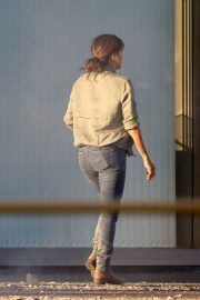 Eva Longoria on the Set of a New Movie in Los Angeles 2020/11/22 2