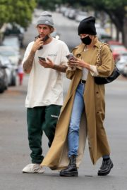 Hailey Rhode and Justin Bieber Out and About in Brentwood 2020/10/22 10