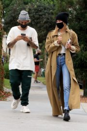 Hailey Rhode and Justin Bieber Out and About in Brentwood 2020/10/22 12
