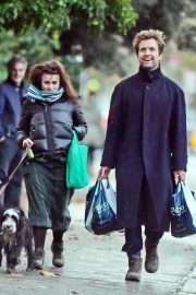 Helena Bonham Carter and Rye Dag Holmboe Out in London 2020/11/15 2