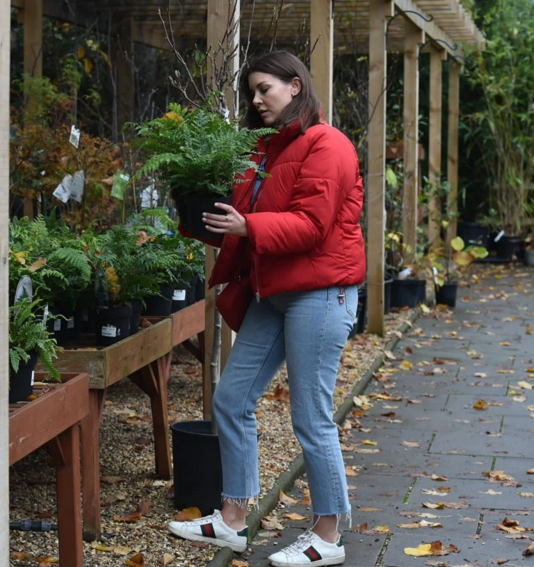 Imogen Thomas Buying Plants at a Garden Centre in London 2020/11/17 8