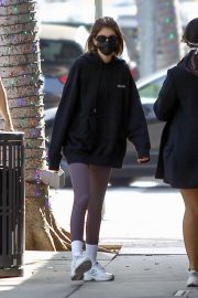 Kaia Jordan Gerber in Black Sweatshirt with Tights Out in Beverly Hills 2020/11/21 2