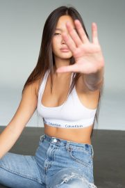 Lily Chee in Calvin Klein Sports Bra and Blue Jeans Photoshoot Portfolio, 2020 Issue 4