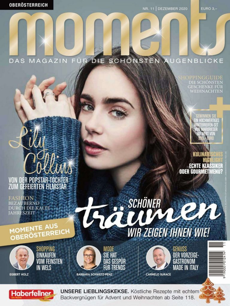 Lily Collins in Moments Magazine, December 2020 Issue 4
