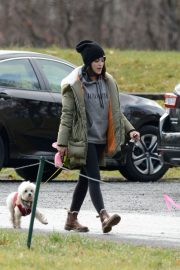 Lucy Hale Out with Her Dog in New York 2020/11/26 5