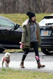 Lucy Hale Out with Her Dog in New York 2020/11/26 7