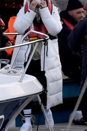 Michelle Keegan on the Set of Brassic TV Series in Wales 2020/11/23 2