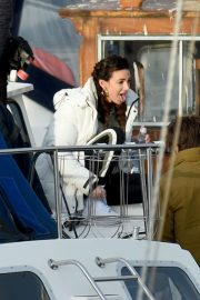 Michelle Keegan on the Set of Brassic TV Series in Wales 2020/11/23 3
