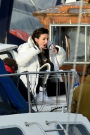 Michelle Keegan on the Set of Brassic TV Series in Wales 2020/11/23 5