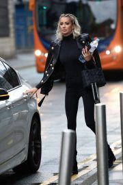 Olivia Attwood in Black Outfit Out in Manchester 2020/10/21 4