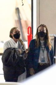 Olivia Wilde and Florence Pugh on the Set of Don't Worry Darling in Los Angeles 11/25/2020 2