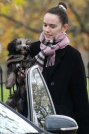 Out with Her Dog in London 2020/11/17 2