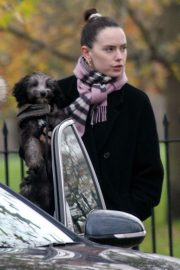 Out with Her Dog in London 2020/11/17 3