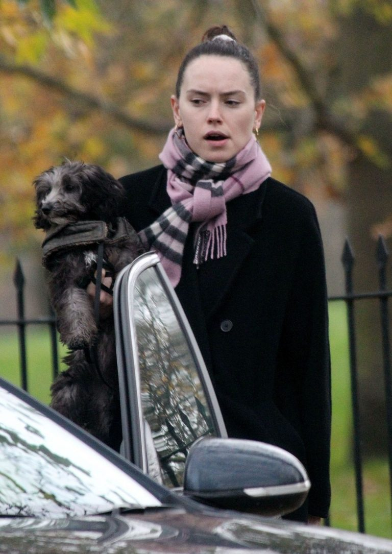 Out with Her Dog in London 2020/11/17 4