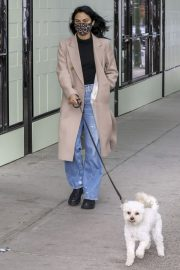 Out with Her Dog in Vancouver 2020/10/27 1