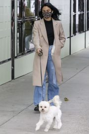 Out with Her Dog in Vancouver 2020/10/27 2