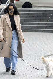 Out with Her Dog in Vancouver 2020/10/27 6