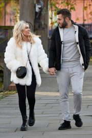 Paige Turley and Finn Tapp Out in Manchester 2020/11/13 2