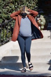 Pregnant Emma Roberts Out on Thanksgiving Day in Los Angeles 11/25/2020 11
