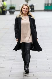 Sian Welby seen in Black Long Coat with Tights Leaves Global Studios in London 11/27/2020 4