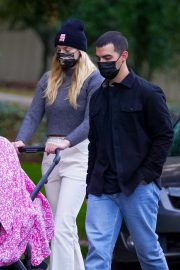 Sophie Turner and Joe Jonas Out on Thanksgiving Day in Los Angeles 11/26/2020 11