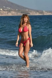 Summer Monteys Fullam in Pink Bikini at a Beach in Cyprus 10/15/2020 10