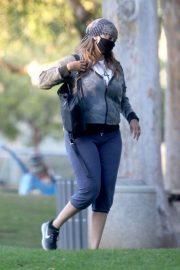 Tyra Banks Out at a Park in Los Angeles 11/24/2020 9
