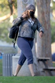 Tyra Banks Out at a Park in Los Angeles 11/24/2020 10