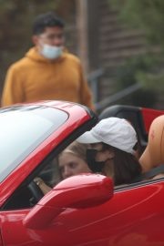 Vanessa Hudgens Drives Her Ferrari Out in West Hollywood 2020/11/23 2