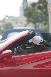 Vanessa Hudgens Drives Her Ferrari Out in West Hollywood 2020/11/23 3