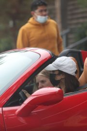 Vanessa Hudgens Drives Her Ferrari Out in West Hollywood 2020/11/23 6