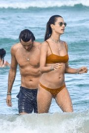 Alessandra Ambrosio in Bikini and Nicolo Oddi at Brava Beach in Florianopolis 12/03/2020 10