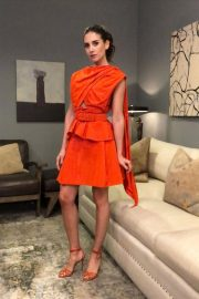 Alison Brie in Dark Orange Outfit - Instagram Photos 12/01/2020 2
