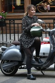 Amy Hart on the Set of Commercial for Velo Scooters in London 11/30/2020 1