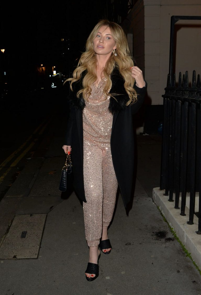 Amy Hart seen in Stylish Shinning Dress Night Out in London 12/05/2020 1