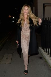 Amy Hart seen in Stylish Shinning Dress Night Out in London 12/05/2020 4