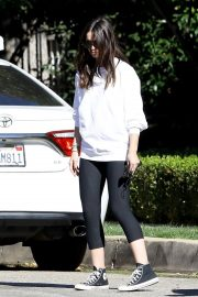 Ana de Armas in White Tops and Tights Out and About in Brentwood 12/04/2020 1